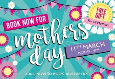Few tables left for Mothers Day!