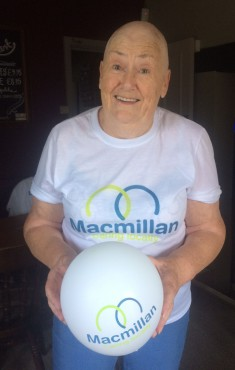 Over £1,000 raised for Macmillan by Liz and her head shave!